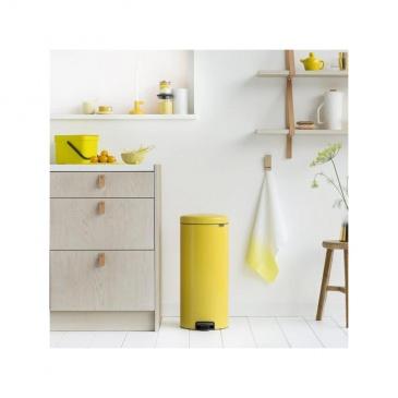 Kosz pedałowy newIcon 30 L żółty, wolnoopadająca pokrywa - Brabantia