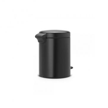 Kosz pedałowy newIcon 5 L czarny matowy, wolnoopadająca pokrywa - Brabantia