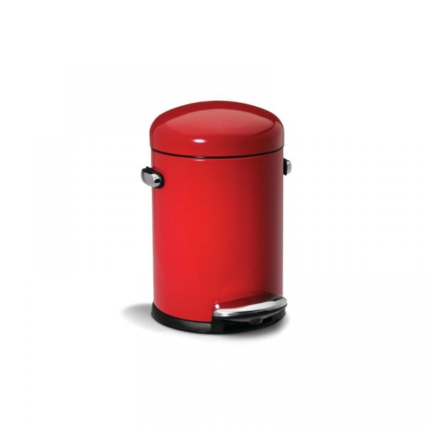 Kosz pedałowy RETRO 4.5L Simple Human Retro czerwony CW1294