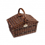 Kosz piknikowy z wyposażeniem Cilio Como ciemny brąz