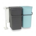 Kosze na śmieci kuchenne do segregacji odpadów 2x16l Brabantia Sort&Go