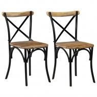 Krzesła do jadalni 2 szt. czarne mango