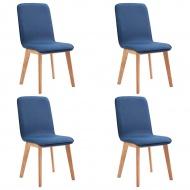 Krzesła do jadalni 4 szt. niebieskie tapicerowane tkaniną