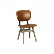 Krzesło 47x54x86 cm Miloo Home College brązowe