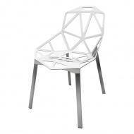 Krzesło 55x59x81cm King Home Split biało-srebrne