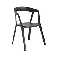 Krzesło 57x56,5x77cm King Home Vibia czarne