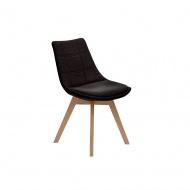 Krzesło Arosa tapicerowane : Kolor - czarny