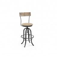 Krzesło Bar 40x90cm Miloo Home Loft naturalne