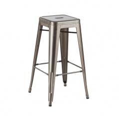 Krzesło barowe 41x41x66cm King Home Tower metaliczne