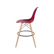 Krzesło barowe 46x57x104cm King Home DSW Wood bordowe