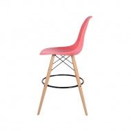 Krzesło barowe 46x57x104cm King Home DSW Wood ciemna brzoskwinia