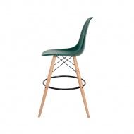 Krzesło barowe 46x57x104cm King Home DSW Wood myśliwska zieleń