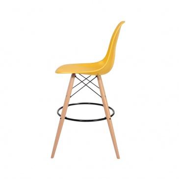 Krzesło barowe DSW Wood King Home kanarkowe H-130.DPP3.30Y.DSW