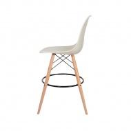 Krzesło barowe DSW Wood King Home migdał pralinowy