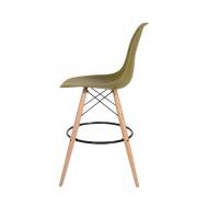 Krzesło barowe DSW Wood King Home zielona herbata