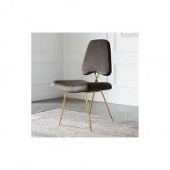 Krzesło barowe Ekskluzywne Salvadore gold/beż