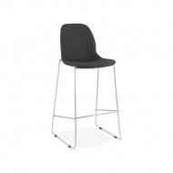 Krzesło barowe Kokoon Design Pablo ciemnoszary nogi chromowane