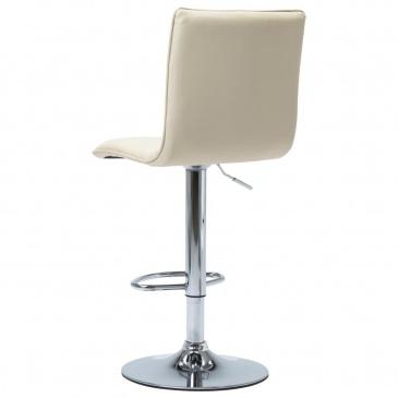Krzesło barowe, kremowe, sztuczna skóra
