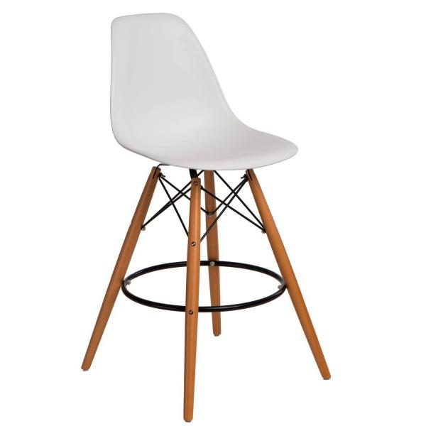 Krzesło barowe P016W PP D2 białe 5902385725088