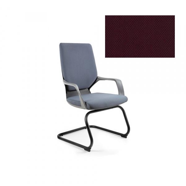 Krzesło biurowe Apollo Skid Unique burgundy W-901B-BL403