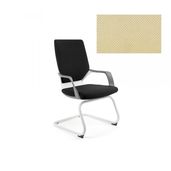 Krzesło biurowe Apollo Skid Unique buttercup W-901W-BL407