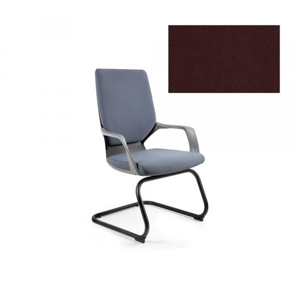Krzesło biurowe Apollo Skid Unique cocoa W-901B-BL406