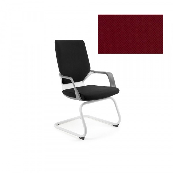 Krzesło biurowe Apollo Skid Unique deepred W-901W-BL402