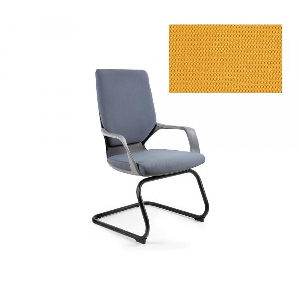 Krzesło biurowe Apollo Skid Unique honey W-901B-BL404
