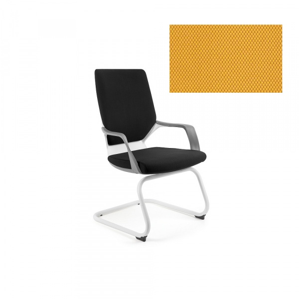 Krzesło biurowe Apollo Skid Unique honey W-901W-BL404