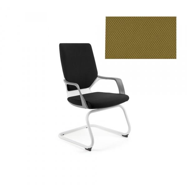 Krzesło biurowe Apollo Skid Unique khaki W-901W-BL408