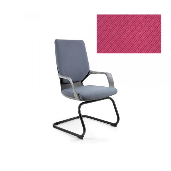 Krzesło biurowe Apollo Skid Unique magenta W-901B-BL401