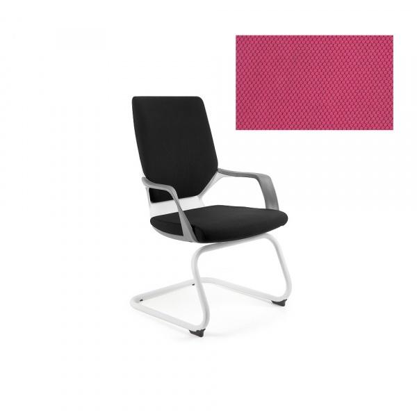 Krzesło biurowe Apollo Skid Unique magenta W-901W-BL401