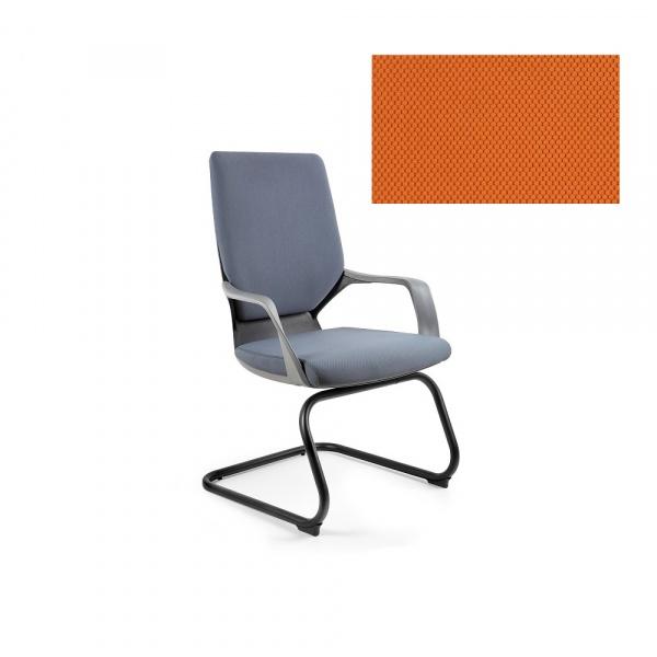 Krzesło biurowe Apollo Skid Unique mandarin W-901B-BL405