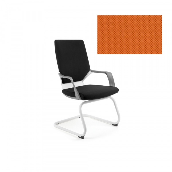 Krzesło biurowe Apollo Skid Unique mandarin W-901W-BL405