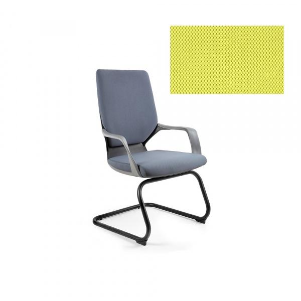 Krzesło biurowe Apollo Skid Unique mustard W-901B-BL410