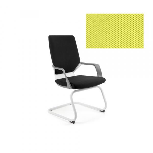 Krzesło biurowe Apollo Skid Unique mustard W-901W-BL410