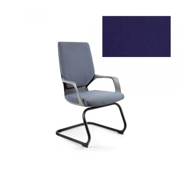 Krzesło biurowe Apollo Skid Unique navyblue W-901B-BL412