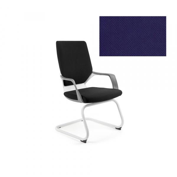 Krzesło biurowe Apollo Skid Unique navyblue W-901W-BL412