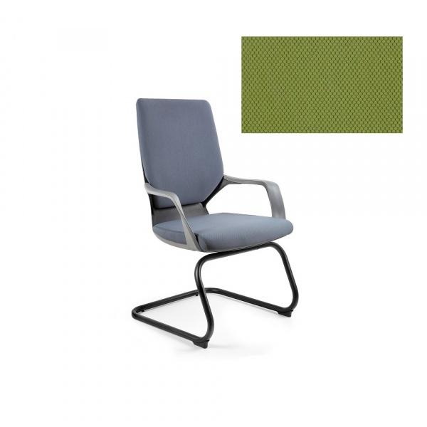 Krzesło biurowe Apollo Skid Unique olive W-901B-BL411