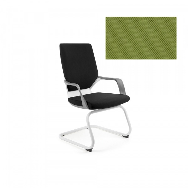 Krzesło biurowe Apollo Skid Unique olive W-901W-BL411
