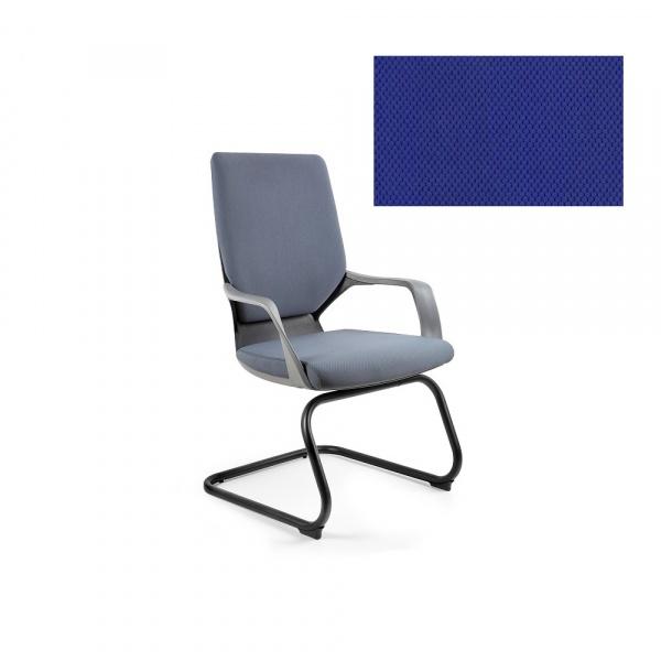 Krzesło biurowe Apollo Skid Unique royalblue W-901B-BL415
