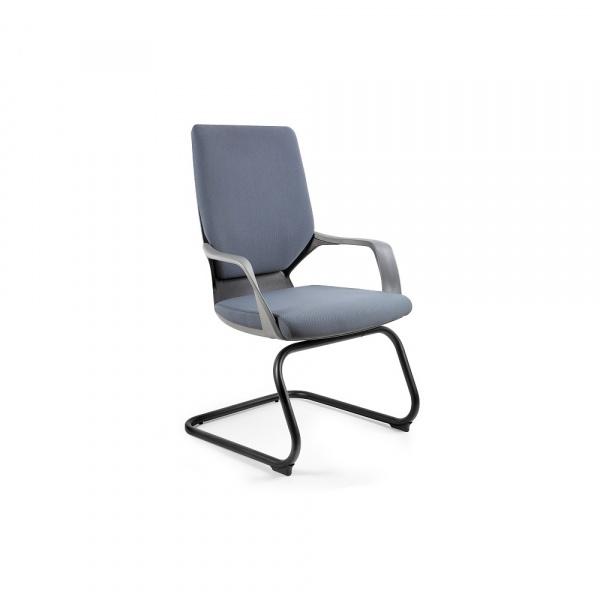 Krzesło biurowe Apollo Skid Unique slategrey W-901B-BL417