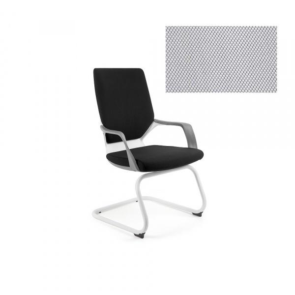 Krzesło biurowe Apollo Skid Unique snowy W-901W-BL416