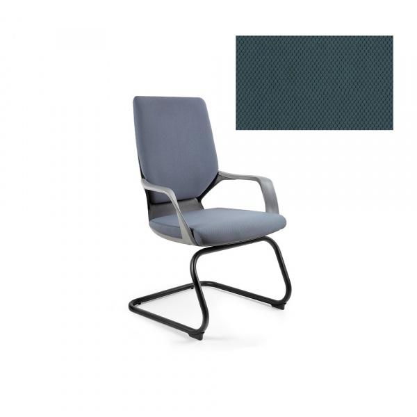 Krzesło biurowe Apollo Skid Unique steelblue W-901B-BL414