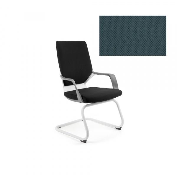 Krzesło biurowe Apollo Skid Unique steelblue W-901W-BL414