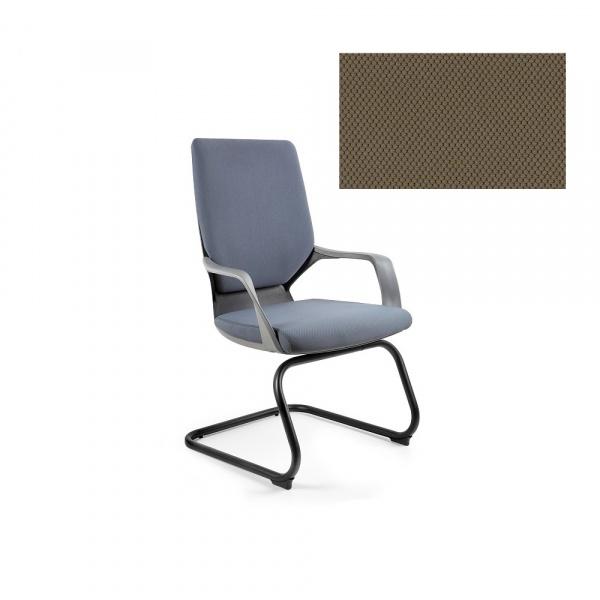 Krzesło biurowe Apollo Skid Unique taupe W-901B-BL409