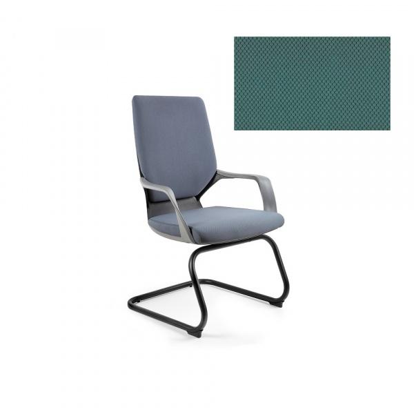 Krzesło biurowe Apollo Skid Unique tealblue W-901B-BL413
