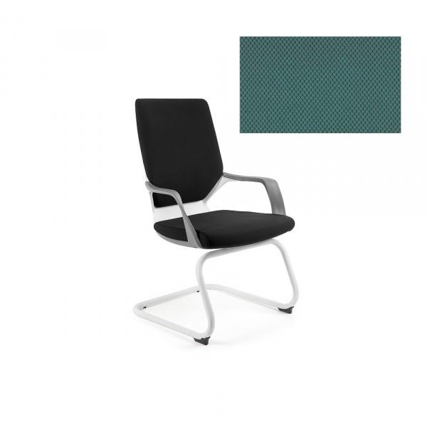 Krzesło biurowe Apollo Skid Unique tealblue W-901W-BL413