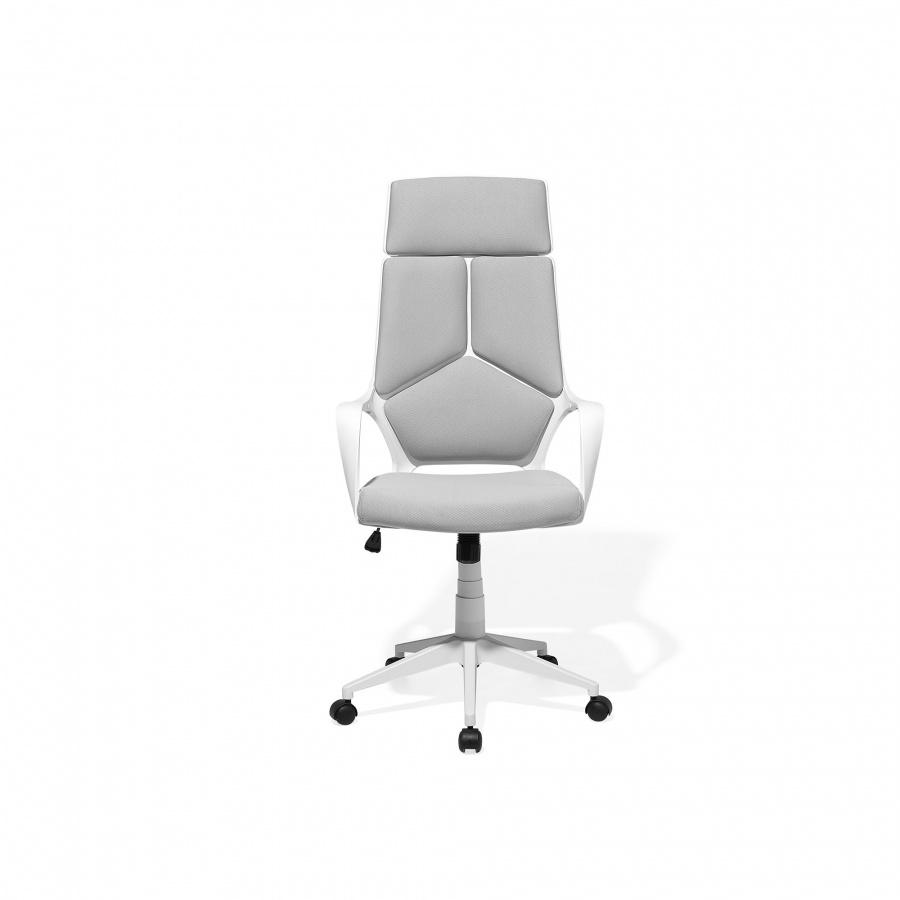 Krzesło Biurowe Biało Szare Regulowana Wysokość Segale Blmeble