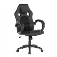 Krzesło biurowe czarne regulowana wysokość Greco